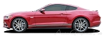 "2015 Ford Mustang ""STALLION ROCKER ONE"" Factory OEM Style Lower Rocker Stripes Vinyl Decal Graphics"